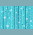 snowfall and blue wood background vector image vector image