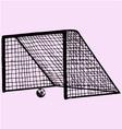 soccer gate soccer ball gate vector image