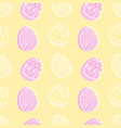 soft yellow and pink seamless pattern with easter vector image vector image