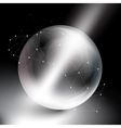 Sphere on black background in rays of light vector image