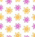 Summer Seamless Pattern with Colorful Flowers vector image vector image