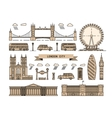 symbols of London vector image vector image