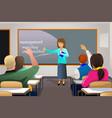 teacher teaching college student vector image