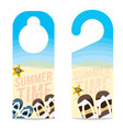 The Beach Summer Vacation Concept Door Hanger vector image