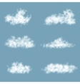 Transparency Gradient Clouds Set vector image