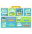 Traveling Cruise Ship and Camping Concept vector image vector image