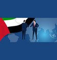 uae united arab emirates international partnership vector image