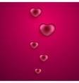 Valentines day background with hearts vector image vector image