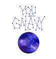 you are my galaxy vector image vector image