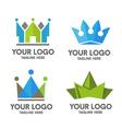 creative crown vector image