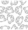 animal head art of doodles vector image vector image