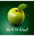 Back to school with green apple on desk vector image vector image