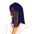 beautiful african american ethnic woman doctor vector image