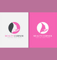 beauty corner logo design usable for business vector image vector image