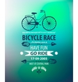 bicycle poster Bike race banner vector image