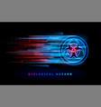 biohazard biological hazard neon sign background vector image