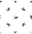 bird origami pattern seamless black vector image vector image