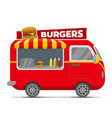 burgers street food caravan trailer vector image