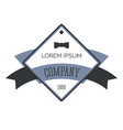 business logo with gentleman bowtie retro vector image