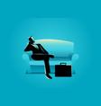 businessman sitting on sofa vector image vector image