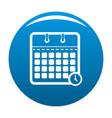 calendar time icon blue vector image