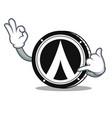 call me dentacoin mascot cartoon style vector image vector image