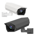 cctv security camera white and black surveillance vector image vector image