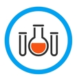 Chemical Vessels Rounded Icon vector image vector image