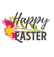 christian holiday symbols happy easter eggs and vector image vector image