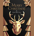 christmas poster or flyer or card design template vector image