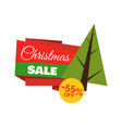 christmas sale -55 off poster vector image vector image