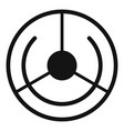 circle aim target icon simple style vector image vector image