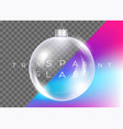 crystal clear christmas ball realistic glossy vector image vector image