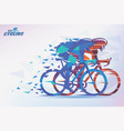 cycling race stylized background with motion vector image vector image