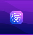 digital media icon letter g design template vector image