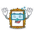 diving picture frame character cartoon vector image vector image