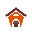 dog house concept logo icon vector image vector image