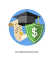 Education Insurance Flat Icon vector image vector image