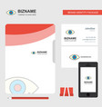 eye business logo file cover visiting card and vector image vector image