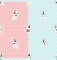 french bulldog seamless pattern eps10 vector image