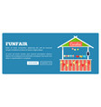 funfair poster with market candies counter vector image