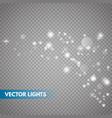 glow light effect sparkle dust vector image