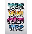 Graffiti cartoon comic doodle font alphabet vector image vector image