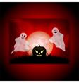 Halloween ghost panel background vector image vector image