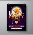 Halloween party flyer with
