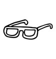 hand drawn glasses doodle icon isolated on white vector image