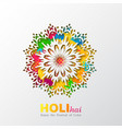 holi holiday design vector image
