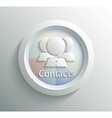 Icon contacts vector image