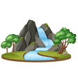 isolated water fall landscape vector image