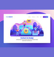 landing page template contact us vector image